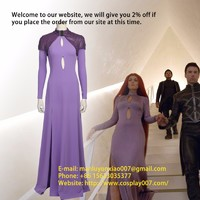 MANLUYUNXIAO Movie Inhumans Medusa Cosplay Costume Women Dress With Cape Custom Made