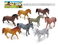6pcs plastic horse farm animal toy set ,PVC farm animal toy set,animal toy