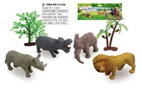 Eco-friendly different kinds 2.5 inch pvc mini zoo animal toy for kids
