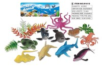 Educational plastic sea creature animal model toys for gifts
