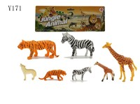 Plastic wild animal toy Zoo animal toy set