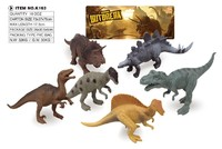 Best gift good quality 6 pcs dinosaur small animal toys for wholesale