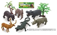 The factory wholesale 3D pvc plastic animal figurine toy