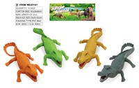 Plastic wild animal model toys crocodile for joke