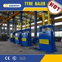 Hydraulic car tire baling machine