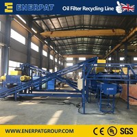 Oil Filter Shredder/Oil Filter Crusher/Oil Filter Recyling Line with UK Design/China Price/CE