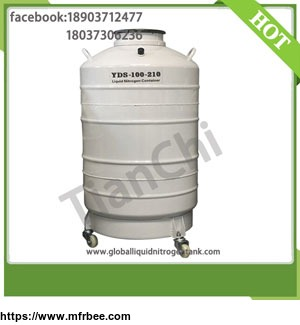 Cryogenic transport container 100 Liter dewar semen tank 100L with Cover factory outlet