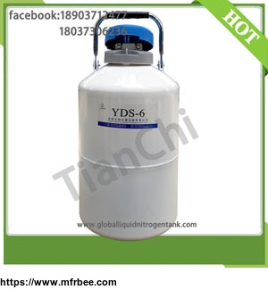 Liquid Nitrogen Container 6 Liter 50mm Caliber Cryogenic Tank Manufacturer