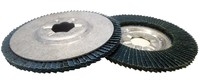 flap disc with aluminium backing