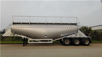 more images of High quality W-shape 32cbm tri-axle Dry Bulk Tanker with air compressor