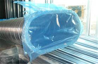 Free samples High transparent pe plastic Dual Film Duct cover Duct Wrap film