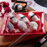 Food Container KW-0002 Sushi Tray PS/OPS Container Disposable Lunch Container