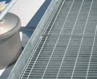 Grid grating used for condensers platform with aluminum or welded type