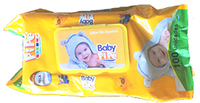 100pcs baby wipes with plactic lid  50gsm 15*20cm