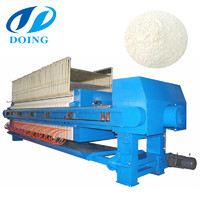 Large capacity stable plate press filter cassava flour dewatering machine