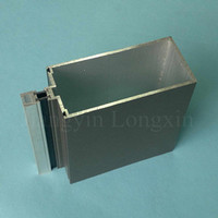 Aluminum profile for curtain wall with thermal break and grey powder coated