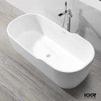 Center Drain Location Freestanding Bathtub