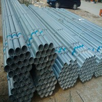 china supplier round galvanized steel pipe price list
