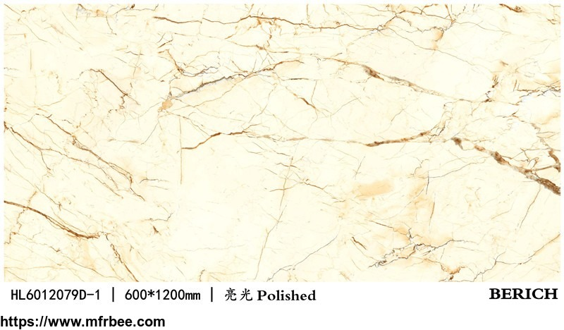 Berich marble look glazed polished porcelain floor tiles