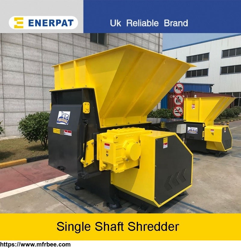 wood chipper shredder single shaft waste shredder for sale