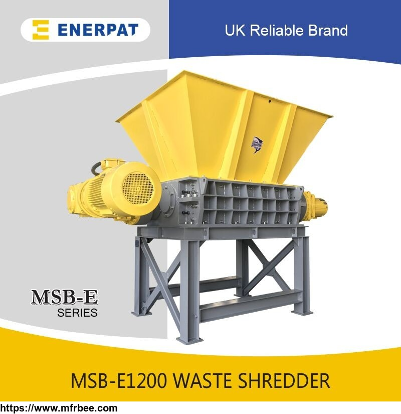 fiber shredder two shaft waste shredder machine for sale