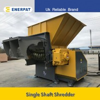 China glass shredder single shaft waste shredder machine