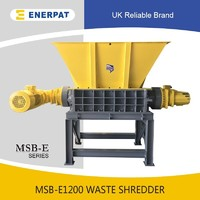 Nice price waste shredder machine two shaft shredder for sale