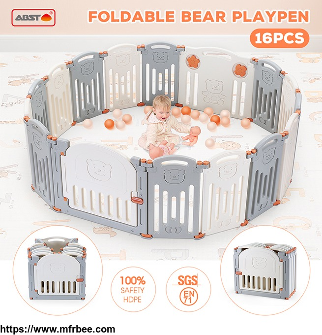 foldable_baby_playpen_kids_panel_safety_play_center_yard_home_indoor_outdoor_pen_fence