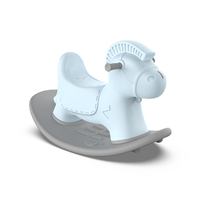 Happy kid toy hard plastic kindergarten children's rocking horses ride on toys  for small spaces.