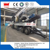 Reliable tyre type mobile crushing station manufacturer