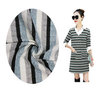 55%rayon 42%polyester 3%spandex striped coarse knitted fabric
