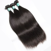 remy peruvian hair bundles/straight hair pieces