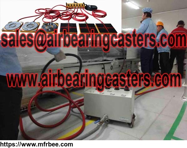 Air caster rigging systems price list and applications