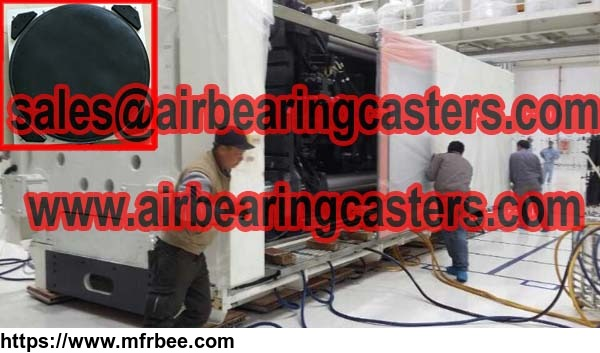 air bearing caster via compressed air as power source