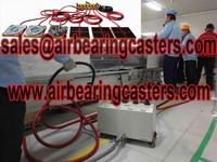Air caster rigging systems is very important