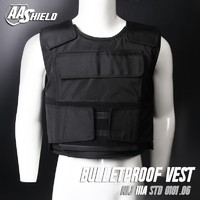 AA SHIELD Bullet Proof Vest Plate Carrier Aramid Core NIJ IIIA 3A Size L Black