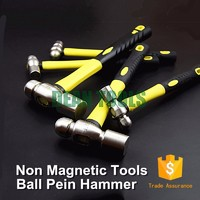 non magnetic non sparking 304 stainless steel ball pein hammer 0.68kg with fiber handle