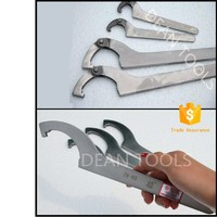 Non Magnetic 304 stainless steel hook wrench,adjustable two type all from Deantools