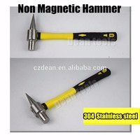 304# stainless steel Flat testing non corrosion Hammer non magnetic hammers with fiber handle