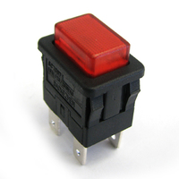 Single/Double pole momentary/latching illuminated rectangular push button switch