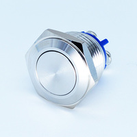 16mm On-Off momentary 3A 250VAC metal push button switches