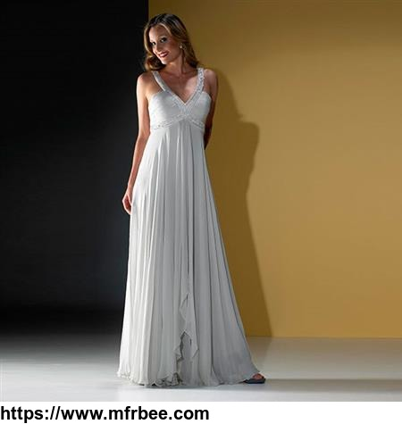 SILK EVENING DRESSES, CRYSTAL BEADED STRAPS PROM WOMEN'S DRESS SUPPLIER 20310