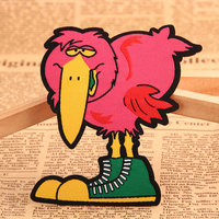 Long Beak Bird Custom Printed Patches