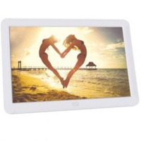 Digital Photo Frame 8 Inch, 1920x1080 IPS Screen Digital Picture Frame Music, Adjustable Brightness