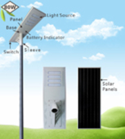 80W High Quality integrated Led Solar Street Light With Poleht