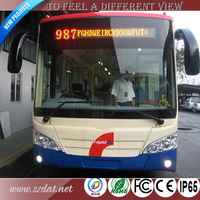 Bus led screen front board P8.2 single red