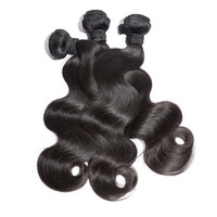 3pcs Lot Cheapest  100% Natural Brazilian and Malaysian Virgin Human Hair Bundles weaving