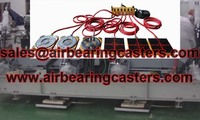 Air caster rigging systems details with manual instruction