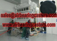 Air bearing and casters details with pictures manual instruction