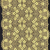 fashional yellow stretch textronic lace trim for Party Dresses